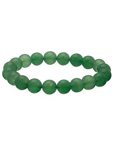 codice promozionale in vendita metà prezzo Braccialetto con perle di giada verde sintetico: Amazon.it ...