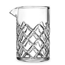 Cocktail Mixing Glass, 17oz/500ml, Clear - Diamond Cut Pattern, Japanese Style [Lead Free] (Crystal Pitcher Set)