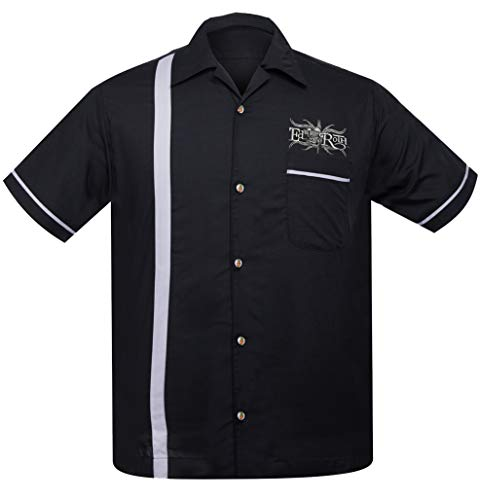 Steady Clothing Men's Rat Fink Kustoms Bowler Button Up Shirt ()