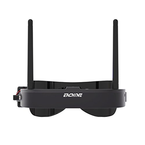 EACHINE EV100 5.8G 72CH 720x540 Resolution FPV Goggles With Dual Antennas Fan 7.4V 1000mAh Battery For RC FPV Quadcopter Drone (Black)