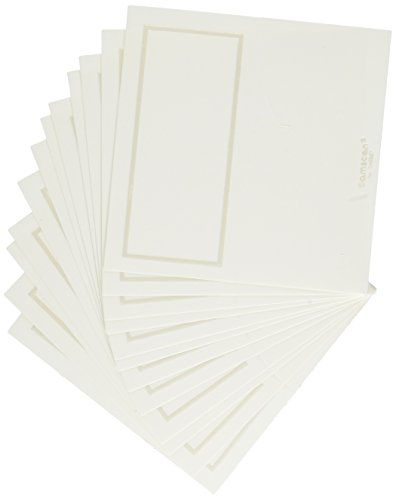 (amscan Party Decorations, Pearlized Place Cards, Party Supplies, White, 4