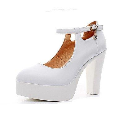La Mujer Tacones Zapatos Formales De Microfibra Sintético Pu Primavera Verano Oficina Boda &Amp; Carrera Parte &Amp; Noche Zapatos Formales Chunky Heelblack US9.5-10 / EU41 / UK7.5-8 / CN42