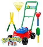Toy Lawn Mower and Gardening Tools Set by Summer Fun