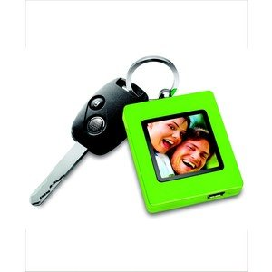 The Sharper Image Digital Photo Keychain Ultra-Thin, Neon Green