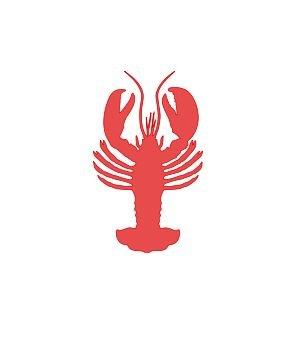 Lobster Decal (Lobster - Vinyl Decal Sticker - 3
