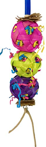Bonka Bird Toys 1753 Balls of Fun Parrot cage Toy Cages Foraging Cockatiel Conure. Quality Product Hand Made in The USA.