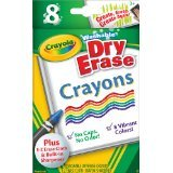 Crayola Large Dry Erase Crayons, 8 count (98-5200) Case of 24