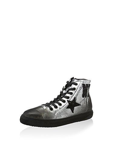 Cafè Noir PEK820204390 I15.204 ARGENTO 39 sneaker in laminato stampa lettere