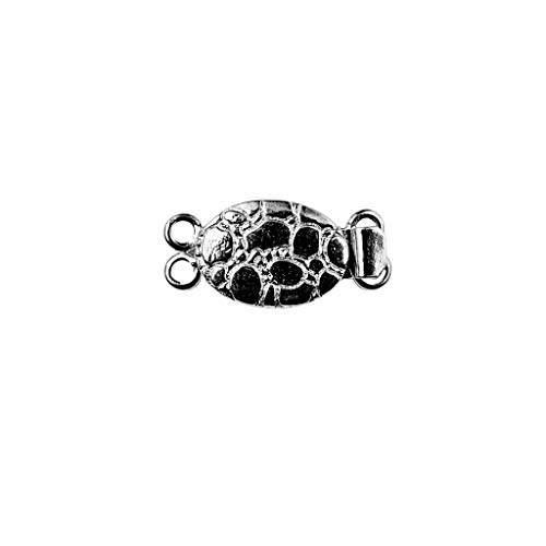 Black Rhodium Overlay Multi Strand Clasp with 2 Hole CR-381