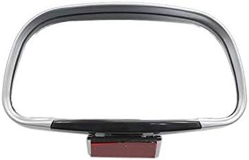 LdSJj Auto-blinder Punkt-Spiegel 360 Umdrehung Einstellbarer Rückspiegel Weitwinkel-Objektiv for Convex Parkplatz Hilfsspiegel (Color : Silver)