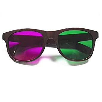 Hard Plastic Green and Magenta Anaglyph 3D Glasses for Movies and Games - Family Packs (1pcs Pack)