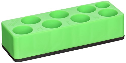 Mechanic's Time Savers MTS885 Socket Holder (3/8 in. Drive Universal Neon Green 8 Hole Impact)