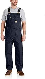 Carhartt mens R01 Duck Bib Overalls Work Utility Outerwear
