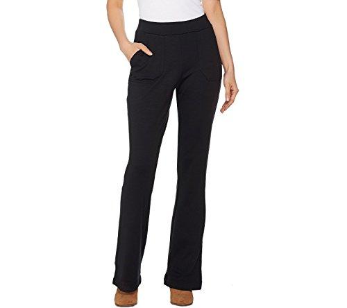 Lisa Rinna Collection Ponte Knit Bootcut Pants A285580  Black  M