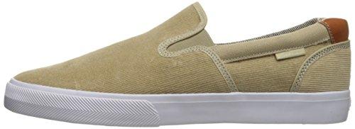 C1RCA Men's Corpus Skateboarding Shoe, Sand/White/Gum, 9 M US