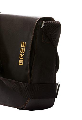 BREE - Bolso al hombro para hombre gris gris 35 cm x 24 cm x 8 cm (B x H x T) moca