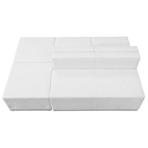 UPC 847254083645, Flash Furniture ZB-803-880-SET-WH-GG 4 Piece Hercules Alon Series White Leather Reception Configuration
