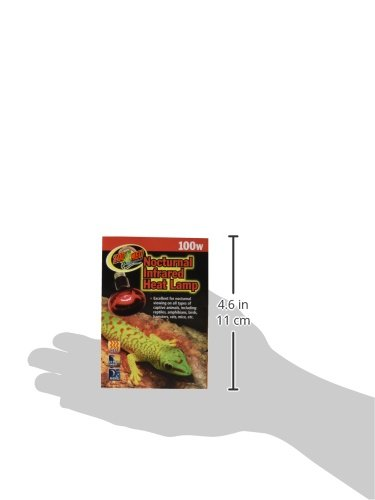 Zoo Med Nocturnal Infrared Incandescent Heat Lamp 100 Watts by Zoo Med (Image #1)