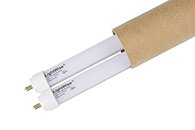 """2 Pack of LightWise LWL7W40-F13T5 21"""" 7Watts White LED Tube with 4000K to Retrofit for 13W T5 Fluo. Tube in your under cabinet lights to get over 50% Energy Saving! Replace Directly!"""