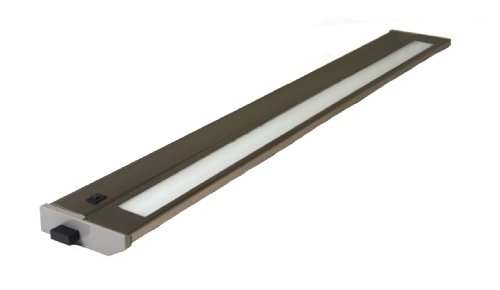 Subminiature Lamps - American Lighting 043T-28-BS Hardwire Fluorescent Under Cabinet Lighting, 18-Watt Lamp with On/Off Switch, 120-Volt, Brushed Steel, 28-Inch