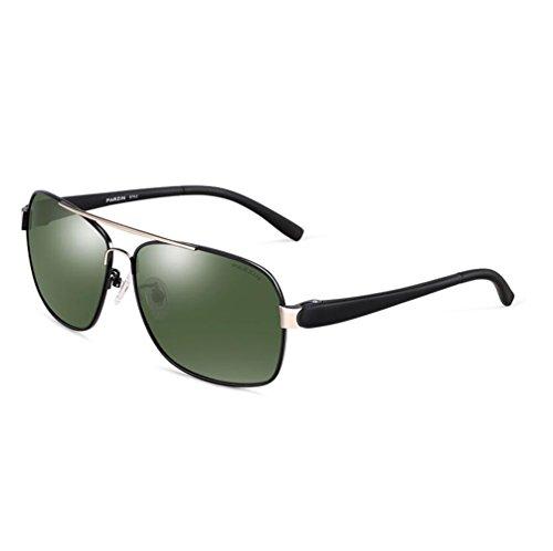 MG Green de UV de Súper polarizado Marco De Conducción Protección Sol Aviador PARZIN Gafas Hombre Metal Al con Ligero 400 Blue qaYR7S