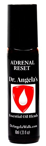 Dr. Angela Walk Adrenal Reset Essential Oil Blend Therapeutic Grade Fatigue, Cortisol, and Stress Support Roll-On Bottle 10 ml (.33 fl oz)