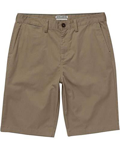 Billabong Men's Carter Shorts Dark Khaki - Fly Shorts Billabong Zip