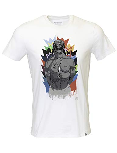 (Men's Tupac 2pac T-Shirt Legacy 100% Organic Cotton (White, Small))