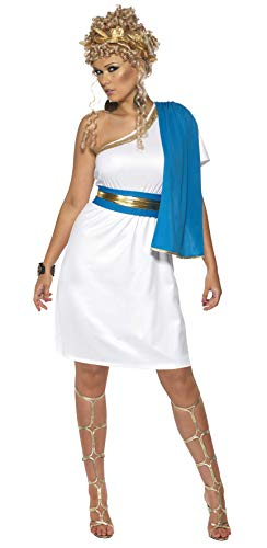 Smiffys Women's Roman Beauty Costume, Dress, Toga, Belt and Headpiece, Legends, Serious Fun, Size 6-8, 30645 -