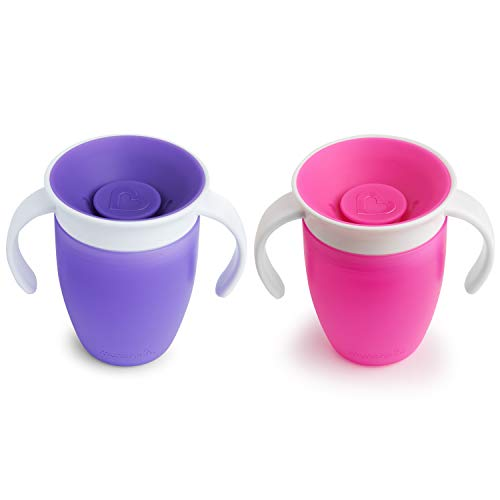 31zmBAdlSsL - Munchkin Miracle 360 Trainer Cup, Pink/Purple, 7 Oz, 2 Count