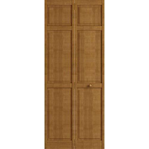 Kimberly Bay Traditional Six Panel Nutmeg Solid Core Wood Bi-fold Door (80x30)