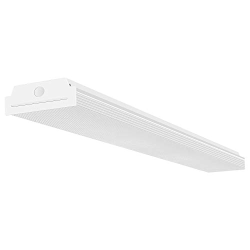 FaithSail 4FT LED Wraparound 40W 4 Foot LED Shop Lights for Garage, 4400lm 4000K Neutral White, Wrap Light, 48 Inch LED Light Fixtures Flush Mount Office Ceiling Lighting, Fluorescent Tube Replacement ()