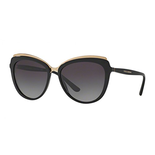 Dolce-Gabbana-Womens-Acetate-Woman-Cateye-Sunglasses-Black-570-mm