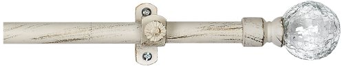 Achim Home Furnishings Metallo Ilana Curtain Rod and Finial, 28-Inch Extends to 48-Inch