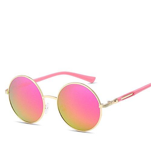 Chahua Lunettes fashion lunettes ronde rétro lunettes métalliques, Mme