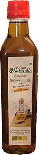 Farm Naturelle Organic Cold Pressed Black Sesame Seed Cooking Oil (415 Ml)