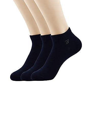 Zando Mens Casual Athletic Sports Cotton No Show Boat Socks G 3 Pairs Navy (Big Bamboo Plants)