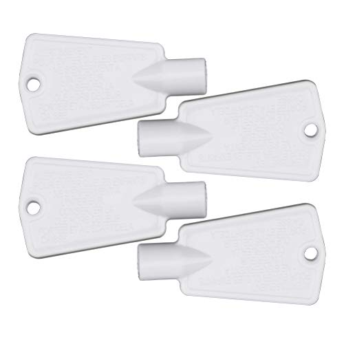(297147700 Freezer Door Key Replacement for Electrolux Frigidaire Kenmore Refrigerator Replaces AP4301346 PS1991481 by AUKO (4 Packs))