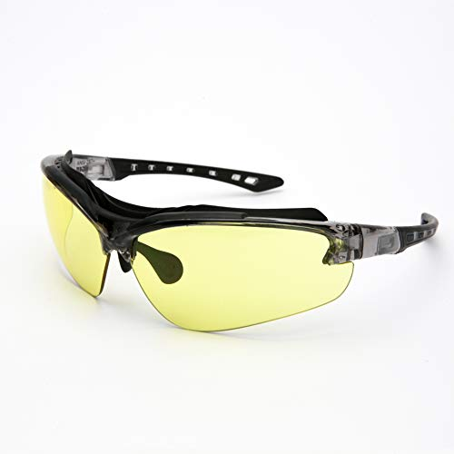 Safety Work Glasses with Clear & Yellow Anti Fog Scratch Resistant Lenses,UV & Impact Protection,ANSI Z87 Rated Protective Eyewear,Superior Eye Protection for Shooting/Construction Work