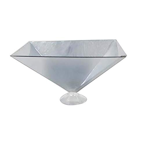 Gilroy Universal 3D Hologram Pyramid Display Projector Holographic Prismfor Smartphone Mobile Phone Silver (Hologram Cup)
