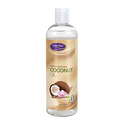 - Life-Flo Coconut Oil, Fractionated | Light, Non-Greasy, Fast-Absorbing Face & Body Oil | For Dry Skin & Hair | Paraben-Free | 16 Fl Oz