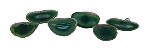 Stone Drawer Pulls 40280-Gree Set Of 6 Polished Green Agate Slice Stone Drawer Pulls 3 X 1.75 X