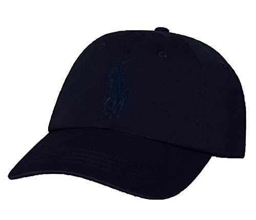 (RALPH LAUREN Polo Men Big Pony Logo Hat (Aviator Navy/Navy Pony))