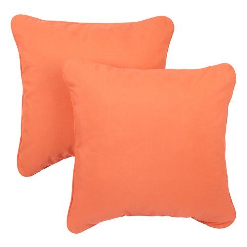 Mozaic Company Sunbrella Indoor/ Outdoor 22-inch Corded Pillow, Melon, Set of 2 Melon Bedding Set