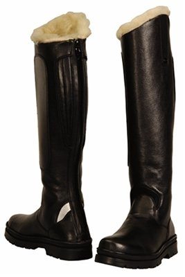 TuffRider Women's Tundra Fleece Lined Tall Boots in Synthetic Leather, Black, 85 Regular