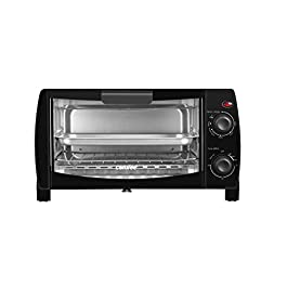 COMFEE' Toaster Oven Countertop, 4-Slice, Compact Size, Easy to Control with Timer-Bake-Broil-Toast Setting, 1000W…
