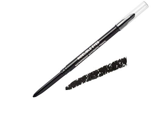 Indelible Eyes Smooth Waterproof Gel Eyeliner - PITCH BLACK - Smudge proof - Ultra Smooth - Super Easy - Long lasting - Blender tip - Longwear - no sharpener needed - Retractable - Slim-line Pencil