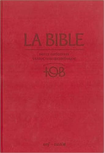 BIBLE TOB LA TÉLÉCHARGER
