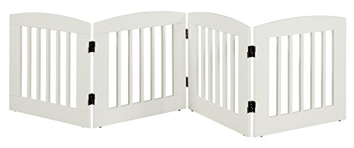 BarkWood Freestanding Wood Pet Gate - 4 Panel Expansion - Medium - 24