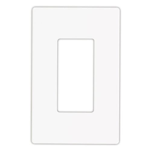 (EATON Wiring 9521WS Aspire Screwless Wallplate, 1-Gang, White Satin)